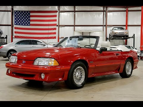 1988 Ford Mustang GT Convertible Red