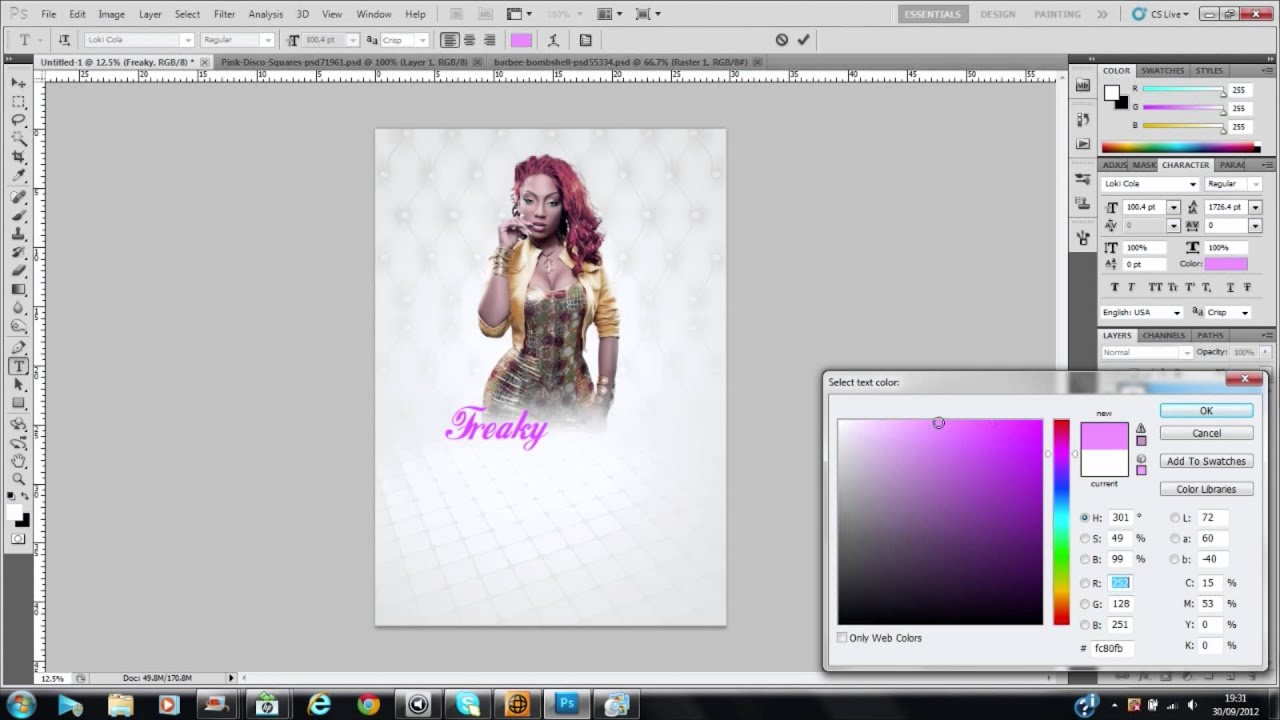 making a flyer in photoshop cs5 cs6 cs4 cs3 by  timwavey