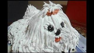 Мама Тома. МК торт Собачка из крема.