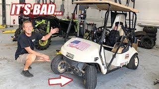 homepage tile video photo for Assessing the Crash Damage On Our STREET BIKE Powered Golf Cart + Help Plan Build Wars 2!