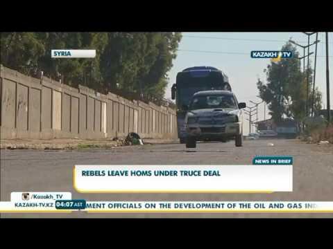 Rebels leave Homs under truce deal - Kazakh TV