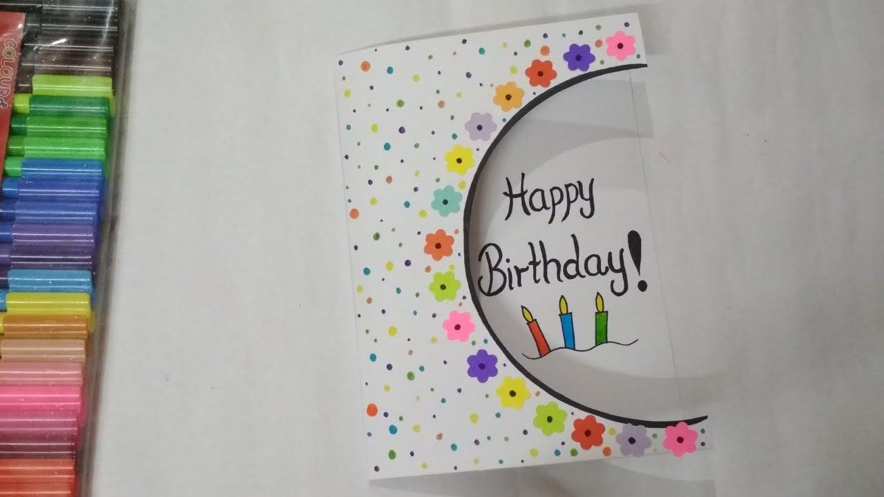 Handmade Birthday Card  Easy Birthday Card Idea  Handmade Greeting Card