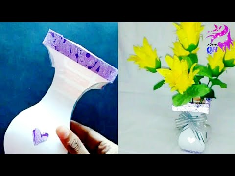 How to make Flower Pot using Chart Paper || Homemade products || Queen's home