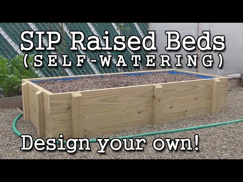 Self-watering SIP Sub-irrigated Raised Bed Construction  (Ho
