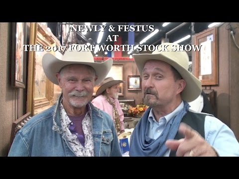 Buck Taylor Newly and Festus from the Gunsmoke TV  at the Fort Worth Stock