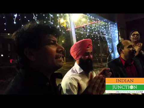 Jasbir Jassi sings at private party in Melbourne Australia on 27 march 2016