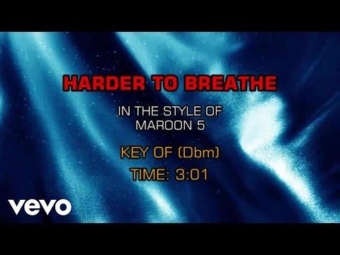 Maroon 5 - Harder To Breathe (Karaoke Smash Hits Vol. 1)