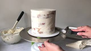How to Fill, Stack &amp Crumb Coat Layered Cake