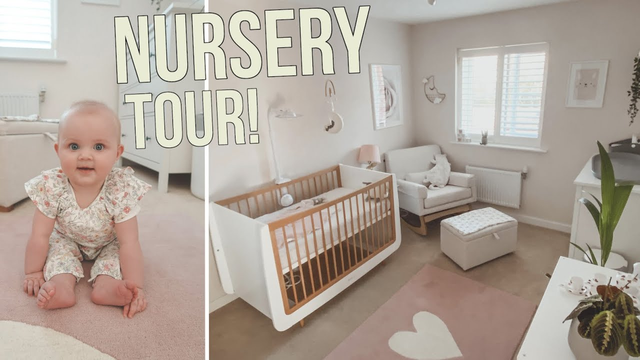 MODERN BABY GIRL NURSERY TOUR 2020! | CHRIS & EVE - YouTube