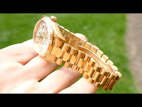 Rolex 36mm DAY-DATE 18k Gold Perfection In 4k UHD