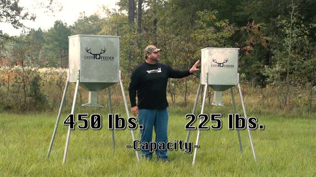 bay steel deer low bran fed feeders feeder protein gravity