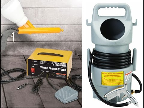 Harbor Freight Powder Coating System and Portable Spot Sandblaster