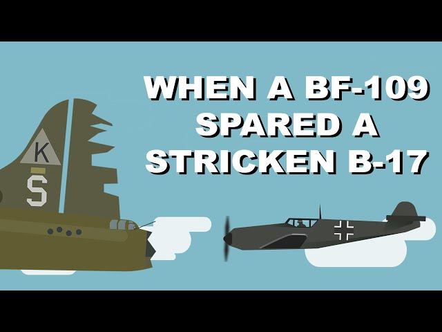 When a Bf-109 spared a stricken B-17