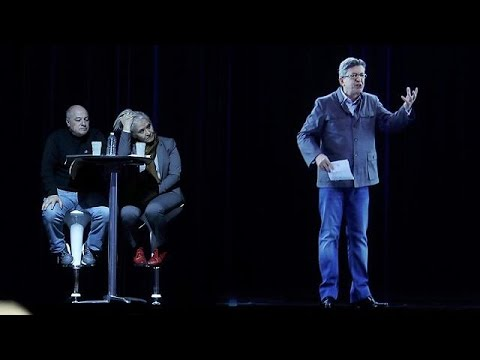 France's far-left candidate uses hologram at rally