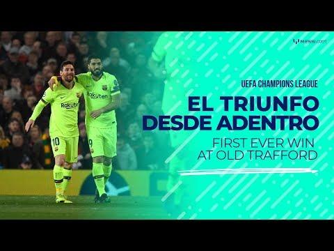 Messi y el Barcelona logran su primer triunfo en Old Trafford