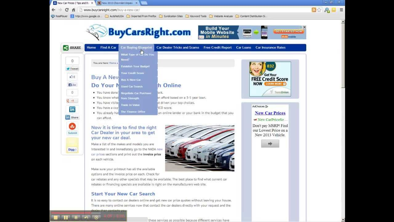 How To Find New Car Invoice Prices Car Buying Tips YouTube - How do i get invoice price on a car