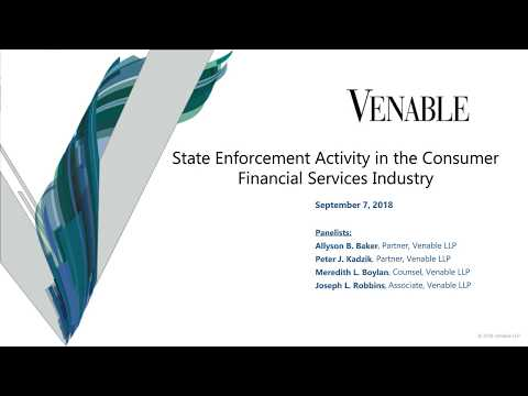 State Enforcement Activity in the Consumer Financial Services Industry