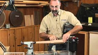 Woodworking Tips & Techniques: Lathe - Turning Square To Round Spindle Transitions