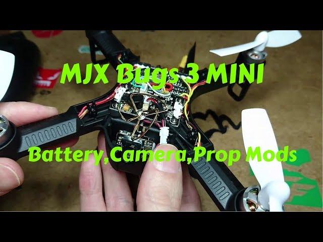 MJX Bugs 3 b3 Mini FPV Cam And Battery Mod Plus Test Flight
