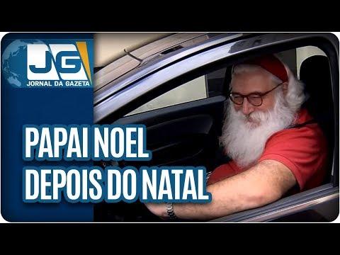 Em São Paulo, Papai Noel não pode parar de trabalhar