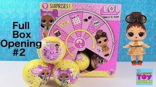 LOL Surprise Confetti Pop Doll Full Case Unboxing #2 Toy Review | PSToyReviews