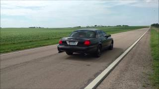 2008 crown victoria p71 exhaust straight pipe burnout