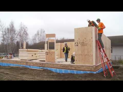 Building with Alaska Insulated Panels SIPs on site