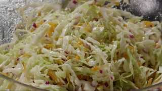 Salad Recipe - How To Make Cabbage Coleslaw