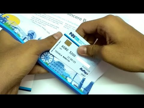 Paytm Debit Card Unboxing