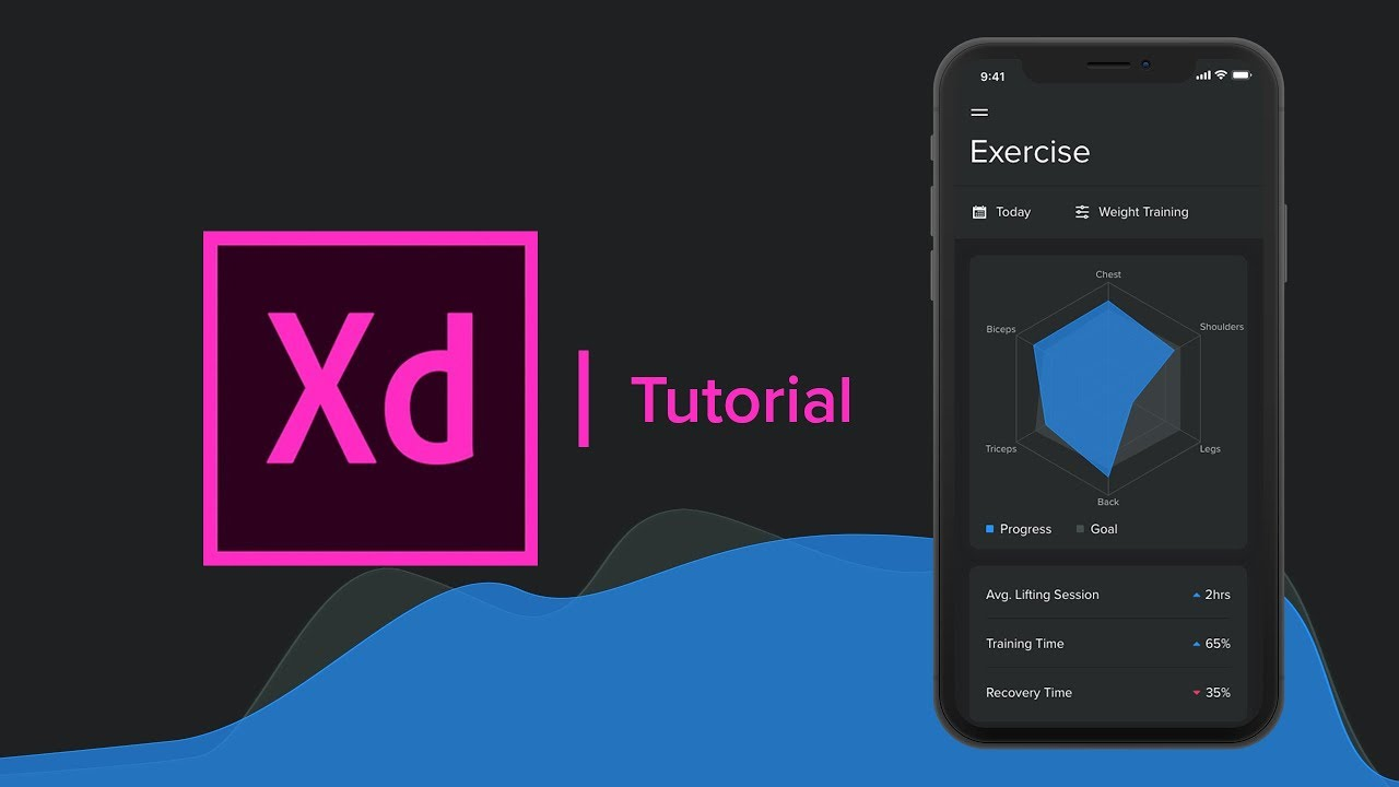Create a Fitness Statistics App (Radar Chart) - Adobe Xd Tutorial - Part 1