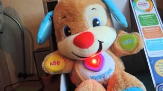 Обзор игрушки. Ученый щенок с технологией smart stages от fisher price.