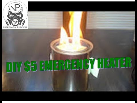SHTF Winter Prepping -  Emergency Heater For Under $5