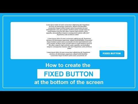 How To Create The Fixed Button At The Bottom Of The Screen - Sticky Button - Fixed Button