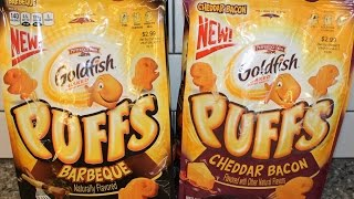 Goldfish Puffs: Barbeque & Cheddar Bacon Review