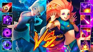 Zoe vs Oriana - 200 IQ - Who is Best OneShot Mid AP ?