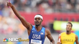 Rai Benjamin's anchor helps USA complete 4x400 world championship double | NBC Sports