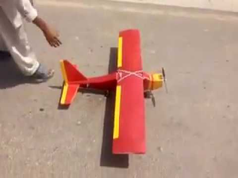 Homemade Rc Plane Successful Flight In Pakistan By Pakistani Boy