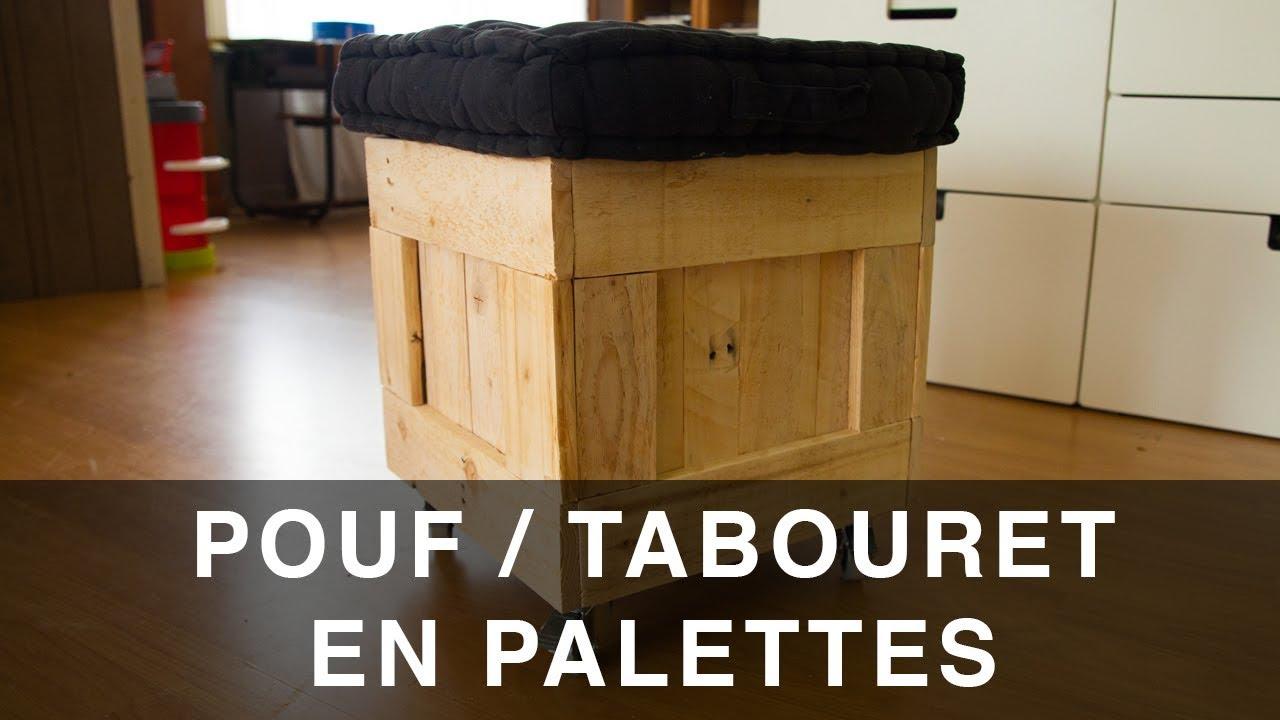 Industriel Table Basse Palette mobile pallet pouf seat