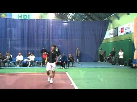 Ricardas Berankis in Bratislava - Technique of Serve