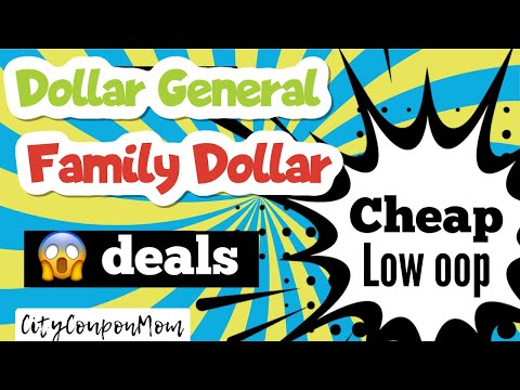 Sat 8/8 | COUPONING TRIP AT DOLLAR GENERAL & FAMILY DOLLAR