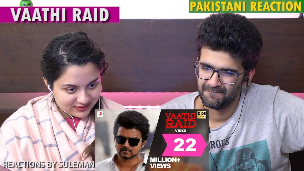 Pakistani Couple Reacts To Vaathi Raid Full Video | Thalapathy Vijay | Master | Lokesh Kanagaraj