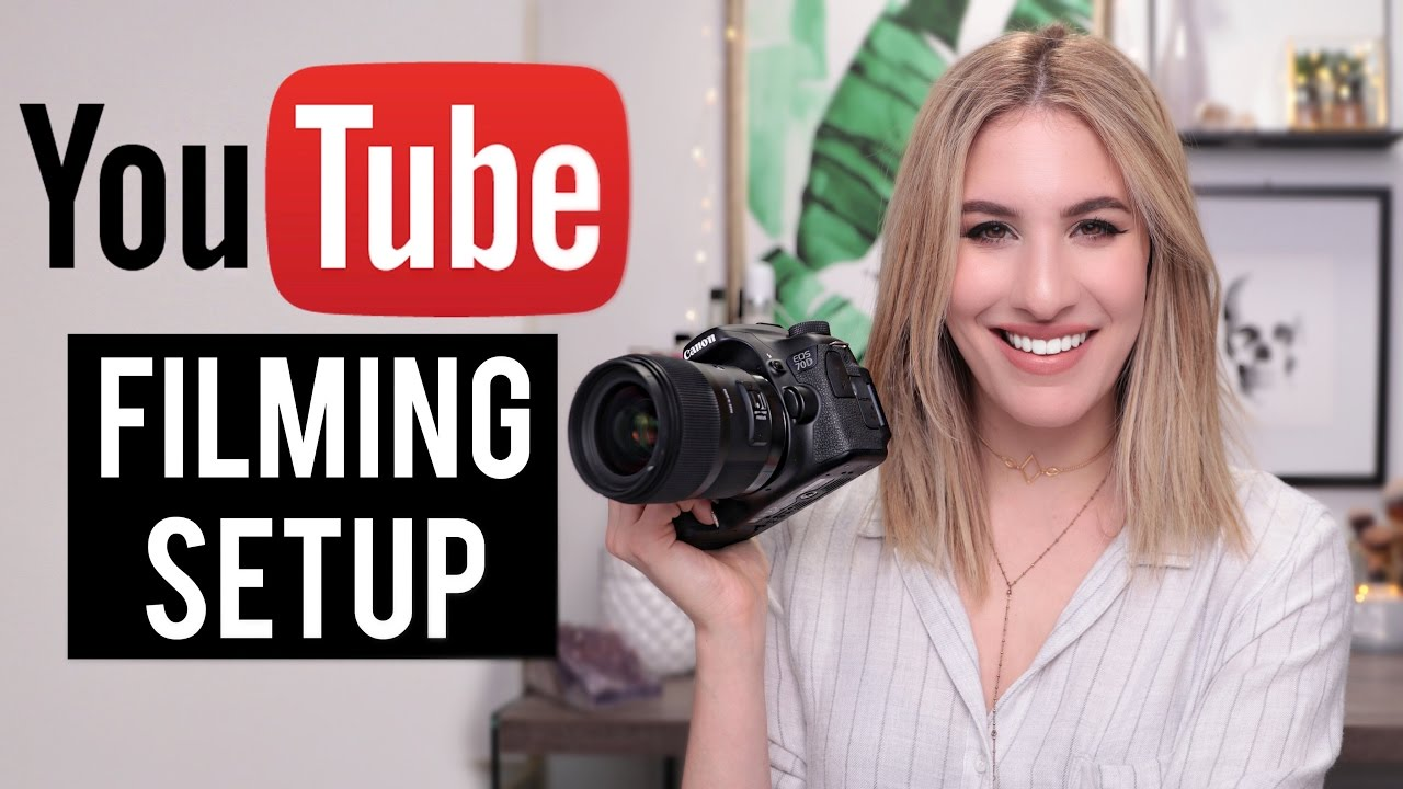 perfect filming setup for beauty videos: lighting, camera, sound