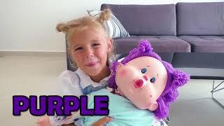 Cinco Crianças fingem brincar de babá e o novo penteado de Mania
