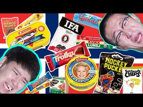 Koreans Try, NORWEGIAN Snacks & Food!