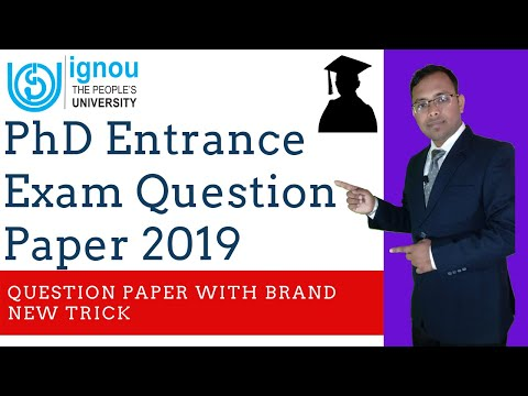 IGNOU M.Phil / Ph.D Management Entrance Exam Question Paper 2019 In Hindi & English II Studycoach