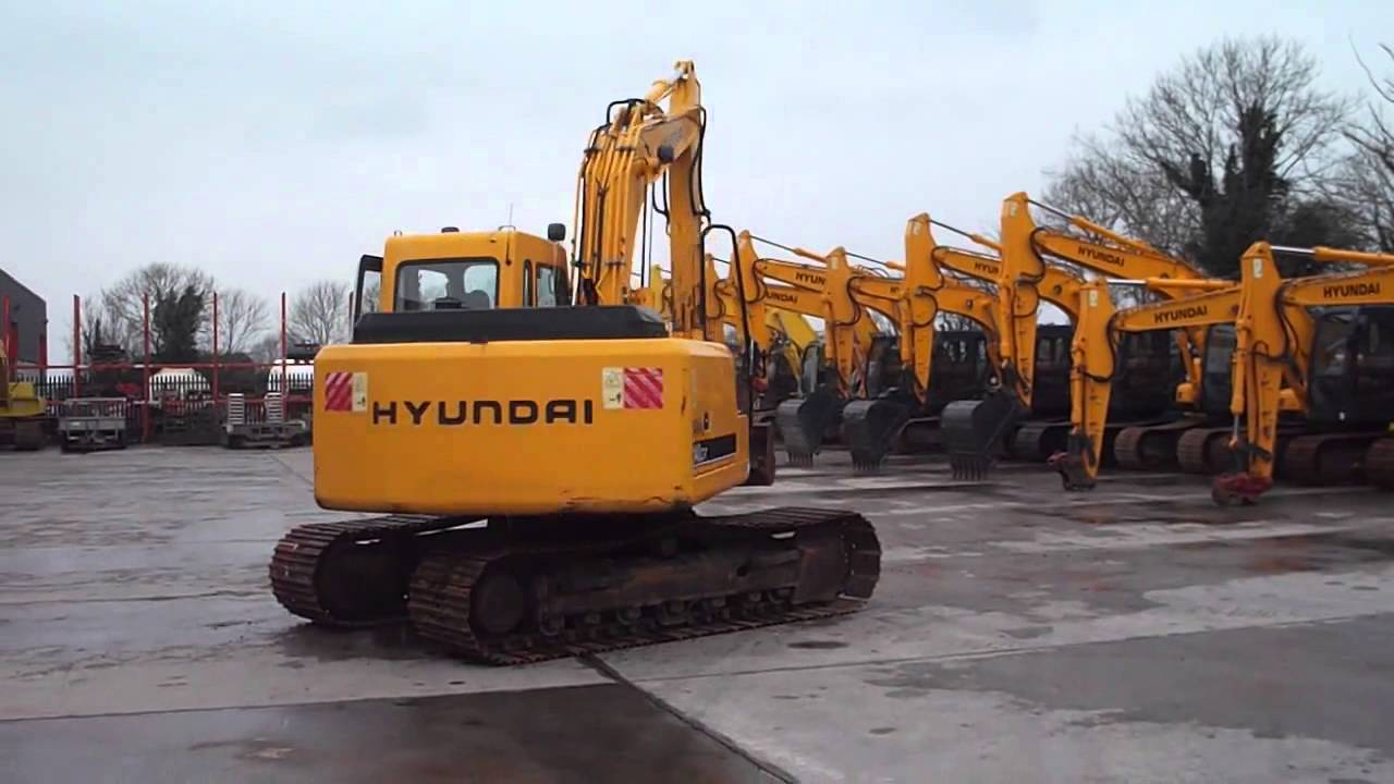 Hyundai Robex 140-LC7 excavator, inspected by MEVAS engineer