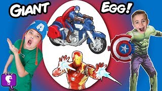 Giant CAPTAIN AMERICA Surprise Egg with HobbyKidsTV