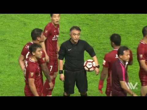 Oscar cause big fight on game between Shanghai SIPG and Guangzhou R&F
