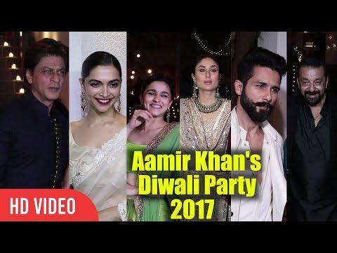 Aamir Khan's Grand Diwali Party 2017   Full Night Party   Shahrukh , Sanjay Dutt, Ranbir & many more