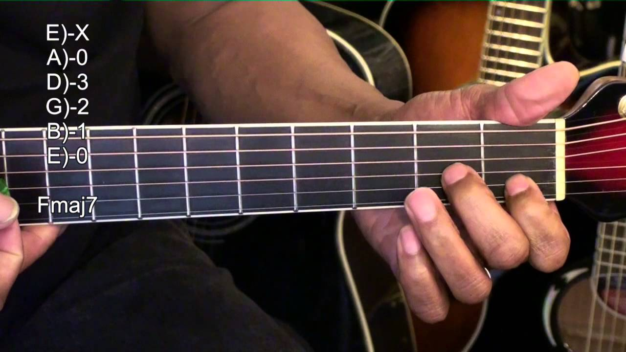 How To Play Guitar Chord Shapes Tutorial 256 Tabs Lesson Breathe Me